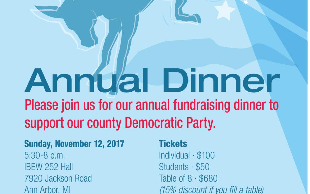 Washtenaw County Democratic Party Annual Dinner