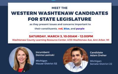 Meet the Western Washtenaw Candidates for State Legislature