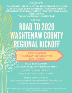 Road to 2020 Washtenaw County Regional Kickoff