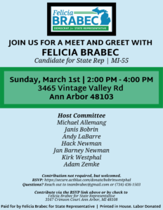 Meet and Greet with Felicia Brabec
