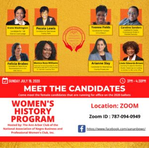 Meet the Candidates–National Assoc. of Negro Business and Professional Women's Clubs