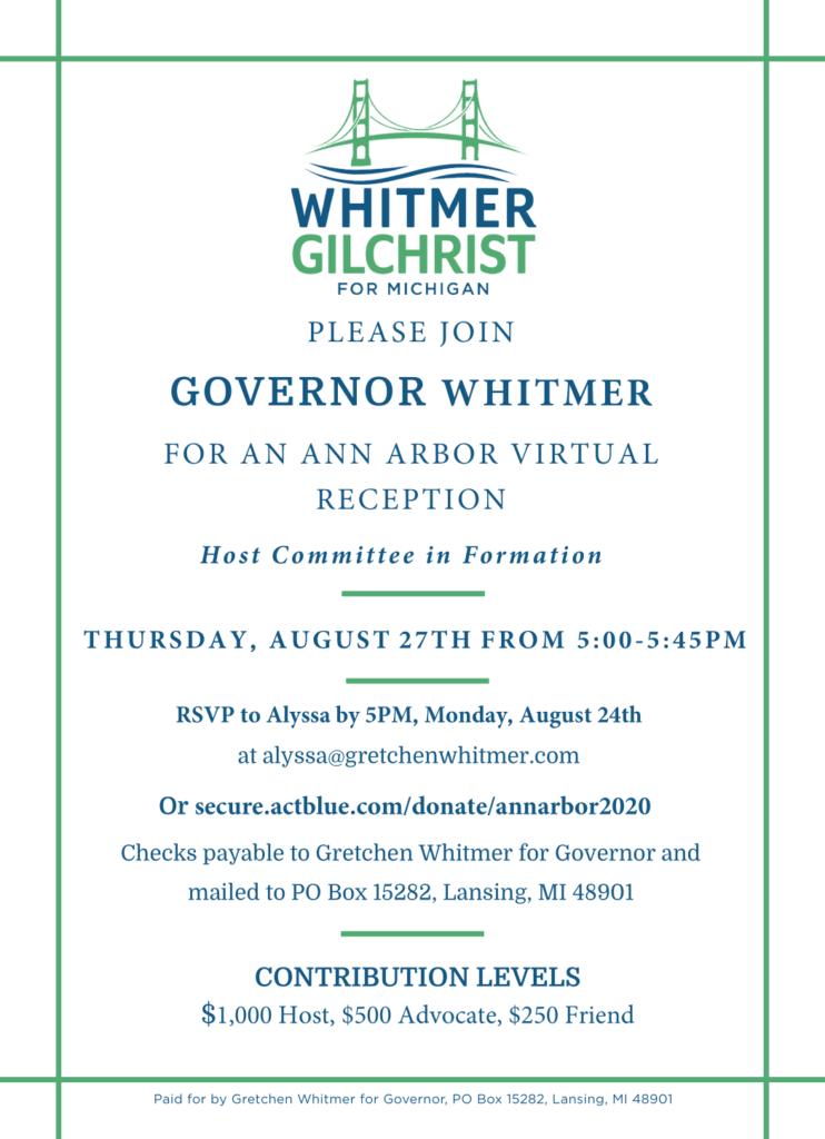 Whitmer Fundraiser 8.27