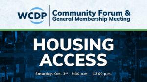 General Membership Meeting: Housing